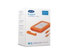 Ổ CỨNG DI ĐỘNG SSD LACIE RUGGED 500GB USB-C, THUNDERBOLT 3 + SRS (STHR500800)